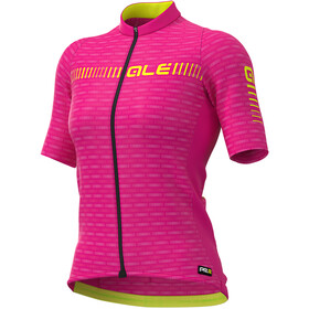 Alé Cycling Graphics PRR Green Road Maillot Manches courtes Femme, cyclamen/fluo yellow